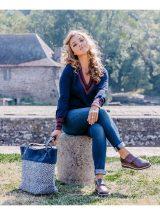 Kassandra-sac-porte-epaule-bleu-marine-fourrure-coton-mishka-le-voyage-en panier-la-fee-louise-2