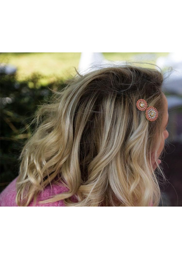 Milly-barrette-accroche-dent-rond-couleur-diamant-bleu-violet-rose-orange-jaune-noir-accessoire-cheveux-la-fee-louise-2